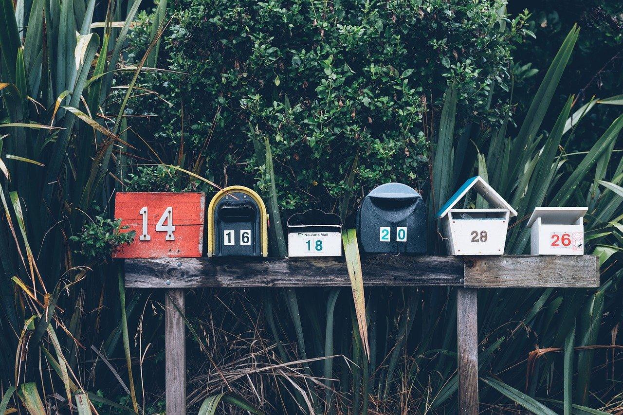 plaques boites aux lettres