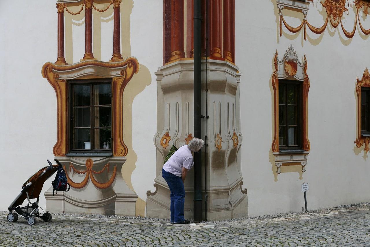 trompe l'œil sur un mur extérieur